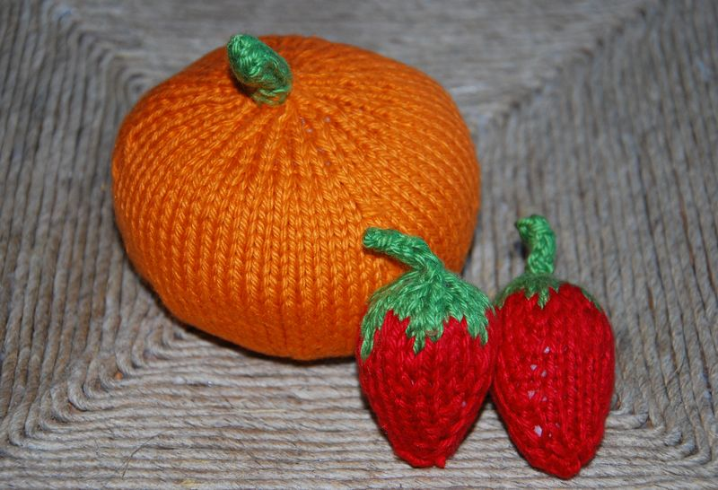 Knitted Play Food-5