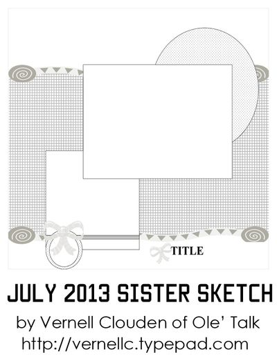 July 2013 Sister Sketch by Vernell Clouden
