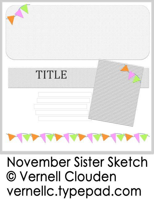 November 2013 Sister Sketch