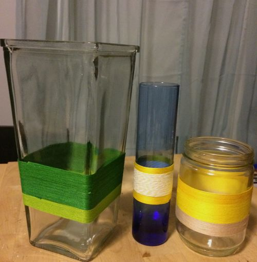 Unfilled completed jars